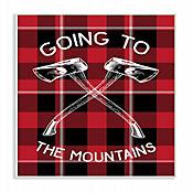 Cuadro en Lienzo Going To The Mountains Placa 25x38
