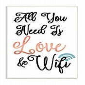 Cuadro en Lienzo All You Need Is Love & Wifi Placa 25x38