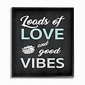 Cuadro en Lienzo Loads Love And Good Vibes Enmarcado 28x36