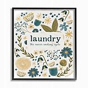 Cuadro en Lienzo Laundry Floral Enmarcado Arte Giclee 41x51