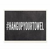 Cuadro en Lienzo Hang Up Your Towel Placa 18x43