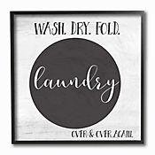 Cuadro en Lienzo Wash Dry Fold Over & Over Again Enmarcado 31x31