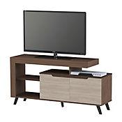 Mesa para TV con 2 Puertas 70x140x40cm Roble Moka/Bali