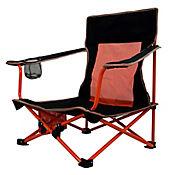 Silla Plegable para Camping y Playa con Estuche Negro