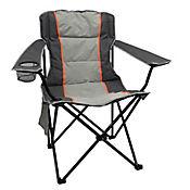 Silla Plegable para Camping y Playa con Estuche Gris