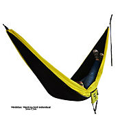 Hamaca Individual Monkey Bed Negro - Amarillo