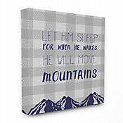 Cuadro en Lienzo Let Him Sleep Mountains Blue Plaid 61x76