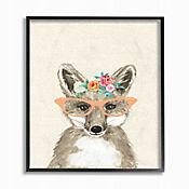 Cuadro en Lienzo Woodland Fox Glasses Enmarcado 28x36