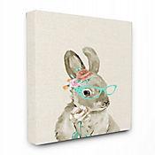 Cuadro en Lienzo Woodland Bunny Cat Eye Glasses 41x51