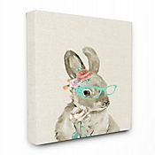 Cuadro en Lienzo Woodland Bunny Cat Eye Glasses 61x76
