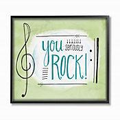 Cuadro en Lienzo You Seriously Rock Enmarcado 41x51