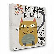 Cuadro en Lienzo Be Brave Be Bold Cat 76x102