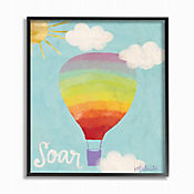Cuadro en Lienzo Soar Rainbow Balloon Enmarcado 28x36