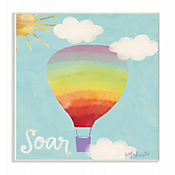 Cuadro Decorativo Soar Rainbow Balloon Placa 25x38