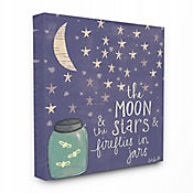 Cuadro en Lienzo Moon Stars Fireflies 61x76