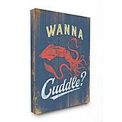 Cuadro en Lienzo Cuddle With A Squid 61x76