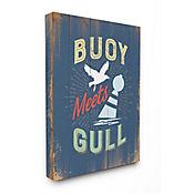 Cuadro en Lienzo Buoy Meets Gull Humor 41x51