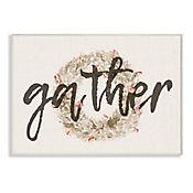 Cuadro Decorativo Gather Strawflower Wreath Placa 25x38