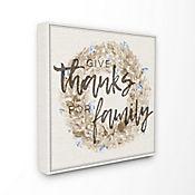 Cuadro en Lienzo Give Thanks For Family Strawflower 43x43