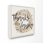 Cuadro en Lienzo Give Thanks For Family Strawflower 61x61