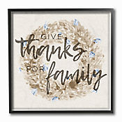 Cuadro en Lienzo Give Thanks For Family Enmarcado 30x30