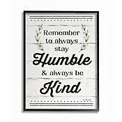 Cuadro en Lienzo Humble And Kind Rosemary Enmarcado 28x36