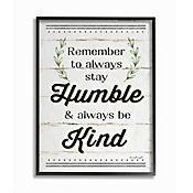 Cuadro en Lienzo Humble And Kind Rosemary Enmarcado 41x51