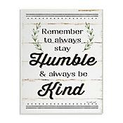 Cuadro Decorativo Humble And Kind Rosemary Placa 25x38