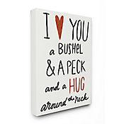 Cuadro en Lienzo Bushel Peck Hug Around The Neck 61x76