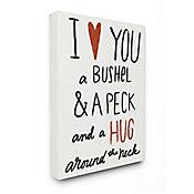 Cuadro en Lienzo Bushel Peck Hug Around The Neck 76x102