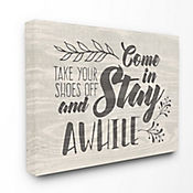 Cuadro en Lienzo Come Stay Awhile Take Your Shoes 41x51