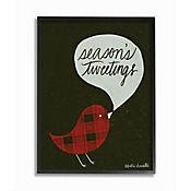 Cuadro en Lienzo Seasons Tweetings Plaid Enmarcado 28x36