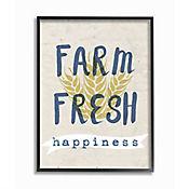 Cuadro en Lienzo Farm Fresh Happiness Enmarcado 28x36