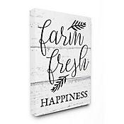 Cuadro en Lienzo Farm Fresh Happiness Black White 41x51