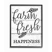 Cuadro en Lienzo Farm Fresh Happiness Black Enmarcado 41x51