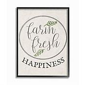 Cuadro en Lienzo Farm Fresh Cursiva Enmarcado 28x36