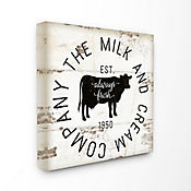 Cuadro en Lienzo Milk And Cream Company Vintage 43x43