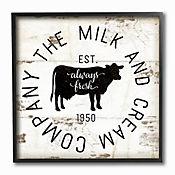 Cuadro en Lienzo Milk And Cream Company Enmarcado 30x30