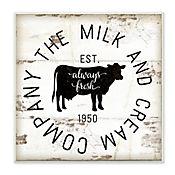 Cuadro Decorativo Milk And Cream Company Placa 30x30