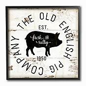 Cuadro en Lienzo Old English Pig Co Vintage Enmarcado 30x30