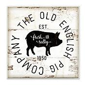 Cuadro Decorativo Old English Pig Co Vintage Placa 30x30