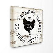 Cuadro en Lienzo Fresh Egg Co Vintage Sign 43x43