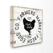Cuadro en Lienzo Fresh Egg Co Vintage Sign 61x61