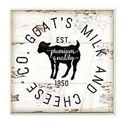 Cuadro Decorativo Goat Milk Cheese Co Placa 30x30