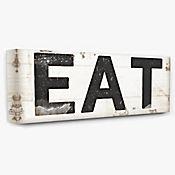 Cuadro en Lienzo Eat Tipografía Vintage Sign 25x61