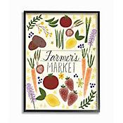 Cuadro en Lienzo Farmers Market Vegetable Enmarcado 28x36
