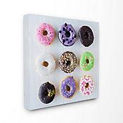 Cuadro en Lienzo Colorful Donut Grid 61x61
