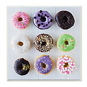 Cuadro Decorativo Colorful Donut Grid Placa 30x30