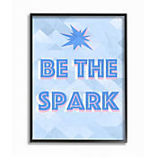 Cuadro en Lienzo Be The Spark Blue Enmarcado 41x51