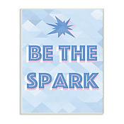 Cuadro Decorativo Be The Spark Blue Placa 25x38